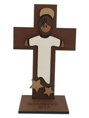 ff7307e8cd8 Recuerdos de primera comunión y bautizo - Cruz Jesús con túnica – Estrellas