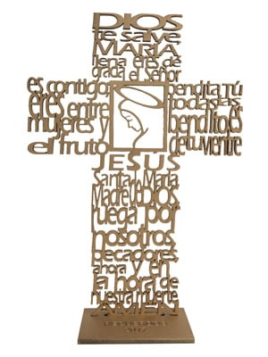 8e7995d08 Recuerdos de primera comunión y bautizo - Oración del Ave María oro